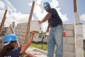 A team from Logos Hope build a house in Guyana
